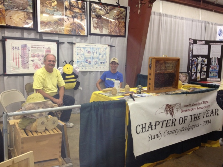 Mark and Nancy at the Stanly County Fair booth